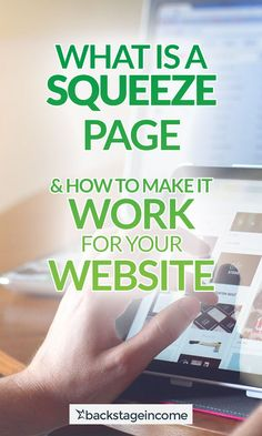 Discover how to use squeeze page for your website's benefit! Online Marketing, Digital Marketing, Squeeze Page, On Page Seo, Seo Optimization, Seo Tips, Make It Work, Email List, Online Business