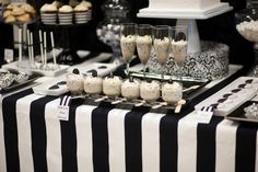 Nightmare before Christmas theme wedding ideas Source by Christmas Wedding Themes, Christmas Bridal Showers, Nightmare Before Christmas Wedding, Christmas Ideas, White Dessert Tables, White Desserts, Black And White Wedding Theme, Black Party, Deco Buffet