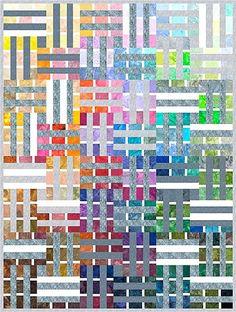 Watercolor Palette quilt - Free pattern at: http://www.hoffmanfabrics.com/portfolios/patterns-new/?cpt_item=watercolor-palette