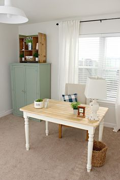 Farmhouse Office And Craft Room Makeover Beautiful Desk A Closet