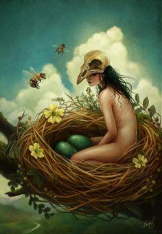 The Nest Digital Art  - The Nest Fine Art Print