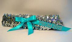 Sequin Bridal Garter or Prom Garter with by RegalRhinestones, $14.95