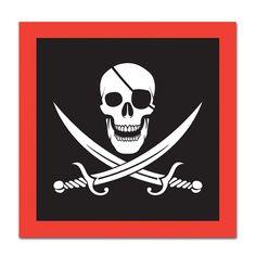 Birthday Party Pirate Beverage Napkins, (192ct)