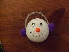 Styrofoam Ball Snowman Ornament