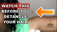 How to Detangle Single Strand Knots in Natural Hair   Discovering Natural https://youtu.be/iLTSvqmXt5U