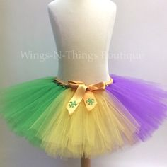 ADULT MARDI GRAS Flag Running Tutu Skirt, Womans Costume, Party, New Orleans, Fleur De Lis, Women, Ladies, Party Favors, Marathon, Race, Run by wingsnthings13. Explore more products on http://wingsnthings13.etsy.com