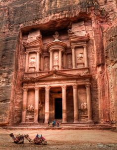 Petra-I want to go here and Indiana Jones has ruined me for it! I don't want to call it Petra, it is the hidden location of the Holy Grail! Places Around The World, Oh The Places You'll Go, Places To Travel, Around The Worlds, Beautiful Places To Visit, Wonderful Places, Amazing Places, Beautiful Sites, Amazing Things