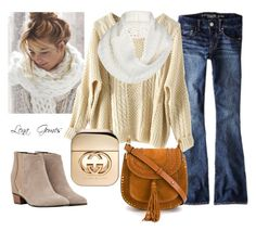 """""""Inspiração!"""" by lenagomes on Polyvore featuring American Eagle Outfitters, UGG Australia, Chloé, Golden Goose and Gucci"""