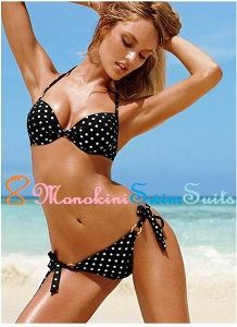 Get our Black & White Polka Dots Printing Sexy Women Bikini Sets Bra Sized Push Up Bathing Suit for your little vacation at the beach with your love ones. Stroll along the Beach with our characteristic New Bra Size Push Up Bandeau Bikini Swimwear. It'll fit perfectly for every women with it's charming & stylish design.   Only at USD 20.98