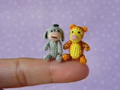 Pooh Bear Friends (MUFFA Miniatures) Tags: cute miniature funny doll handmade oneofakind ooak crochet tiny micro tigger poohbear amigurumi eeyore dollhouse dollshouse threadcrochet tigro poohfriends cdhm 100acreswood muffaminiatures
