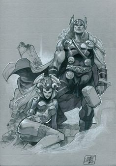 Thor and Enchantress by Pepe Larraz *