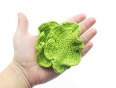 1 Pcs  Crochet lettuce leaf teether teeth play food от MiniMoms