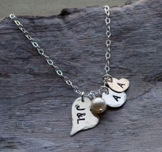Hand Stamped Mothers Necklace Personalized Necklace by cvennell, $39.50