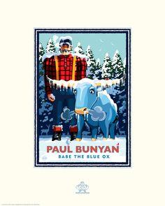 Landmark Series | Paul Bunyan Winter | Minneapolis, Minnesota by Graphic Artist, Mark Herman by NumericPress on Etsy https://www.etsy.com/listing/221073152/landmark-series-paul-bunyan-winter