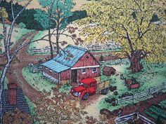 Farmland Fabric Susan Hunt Wulkowicz Barn by SewMeNowFabrics, $6.00