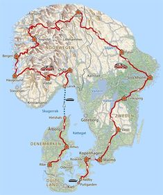 rondreis Made in Scandinavia · Pharos Reizen Road Trip Map, Road Trip Europe, Travel Planner, Travel List, Travel Route, Places To Travel, Norway Roadtrip, Norway Sweden Finland, Holidays In Norway
