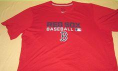 Team Issue BOSTON RED SOX   MLB T Shirt  Sz 2xl XXL  - Red -  Nike Dri Fit #Nike #BostonRedSox