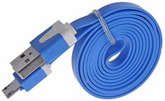 """myLife Azure Blue {Brightly Colored Noodle Design} 6' Feet (1.8 Meter) Quick Charge USB 2.0 Micro USB to USB Data Sync Cord for Phones, Cameras, Tablets and GPS Devices """"SEE COMPATIBILITY"""" (Durable Rubber Coat) myLife Brand Products http://www.amazon.com/dp/B00NX5ZPZ4/ref=cm_sw_r_pi_dp_iP9tub0BV5Q3M"""
