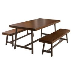 Best Selling Home Bassie 3 Piece Rectangular Dining Table Set