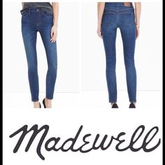 "Madewell  skinny jeans Sz 27 9"" rise high skinny jeans in excellent condition very cute flattering look Madewell Jeans Skinny"
