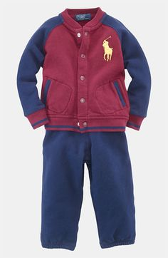 Ralph Lauren Jacket & Pants (Infant) available at #Nordstrom