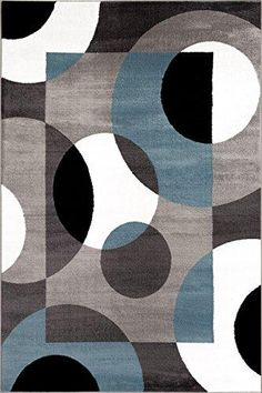 Rugshop Modern Circles Area Rug