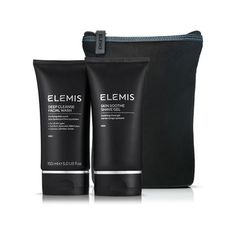 Two full size Elemis mens skincare products and a free washbag. The perfect gift for the man on the move. Free delivery worldwide at TreatYourSkin.com