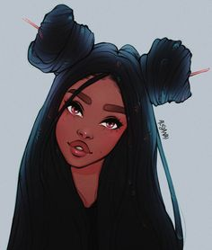 "Digital Drawing of a Girl with Locs by Alicjanai Pinsel: ""Malpinsel-Set"" endBle. Digital Drawing of a Girl with Locs by Alicjanai Pinsel: ""Malpinsel-Set"" endBlendpinsel-Set💦 ✏️Sketchy-Pinsel-Set✏️ Sie können alle meine Pinsel-Sets . Cute Girl Drawing, Cartoon Girl Drawing, Cartoon Drawings, Art Black Love, Black Girl Art, Locs, Black Girl Cartoon, Black Cartoon Characters, Drawings Of Black Girls"