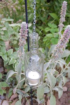 Sobieskii Bottle Candle Holder by SimplyGlass on Etsy, $15.00