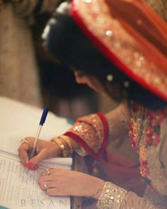 Best relation in this world between Girl nd Boy is Nikah Bridal Mehndi Dresses, Bridal Outfits, Wedding Dresses, Nikah Ceremony, Moda Indiana, Pakistan Bridal, Bridal Photoshoot, Wedding Photography Poses, Beautiful Bride