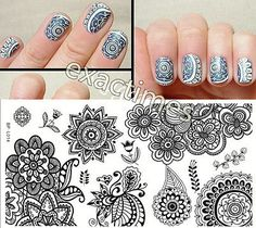 Chic Flower Nail Stamping Plates Stamp Template Image Plate BORN PRETTY BP-L014 12.5 x 6.5cm