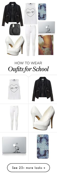 """In School"" by musicmelody1 on Polyvore featuring Ally Fashion, Zizzi, Frame Denim, Michael Antonio, women's clothing, women, female, woman, misses and juniors"