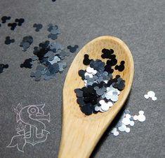 Glitter resistenti ai solventi Mickey Mouse 4mm
