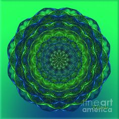 Healing Mandala - Spiritual Art by Giada Rossi. Fine art prints and posters for sale. #spiritualart #mandala #giadarossi