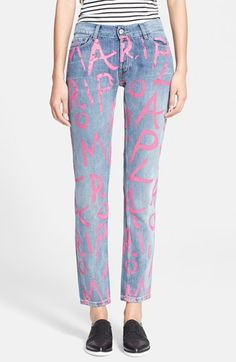 EACH+X+OTHER+'Maripol+Handwritten'+Ankle+Jeans+available+at+#Nordstrom