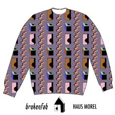 Ready for some Haus sweater from Brokenfab ! very soon available at #brokenfab or #blickfangZurich. We'll keep you posted #hausMorel #haus #sweater #print #textiledesign #textiledesigner #design #fabric #fun #unisex