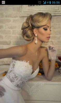 35 Trendy Hair Updos For Weddings Vintage Hairstyles Special Occasion Hairstyles, Formal Hairstyles, Bride Hairstyles, Vintage Hairstyles, Bridal Updo, Wedding Updo, Wedding Dress, Bridesmaid Hair, Prom Hair