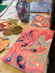 Marbling workshop at The1870 Studio. Painting, acrylics, marbling, pours, watercolor, oil and more.   Please visit us at The1870.com to learn about our exciting arts and crafts workshops held most Saturdays in our beautiful church turned studio, in the mountains of Pennsylvania just one hour north of Harrisburg in Locust Gap.  Find us on Facebook at http://Facebook.com/the1870studio and please like & share us!