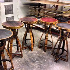Wine barrel bar tables
