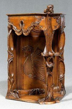 Art nouveau carved c