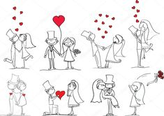 Find Set Wedding Pictures Bride Groom Love stock images in HD and millions of other royalty-free stock photos, illustrations and vectors in the Shutterstock collection. Thousands of new, high-quality pictures added every day. Cartoon Drawings, Cute Drawings, Wedding Images, Wedding Pictures, Wedding Paper, Wedding Cards, Doodle Wedding, Picture Invitations, Doodle People