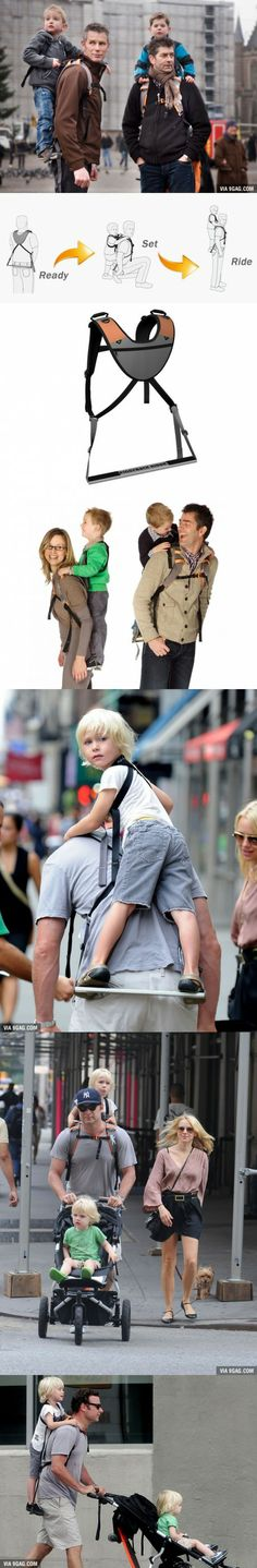 "I would definitely buy this ""Piggyback Rider"" for my kids when I become a father!"