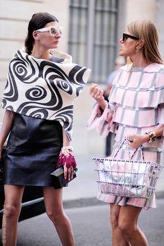 """we are amazing. wanna talk about it?!"" ;) Gio & AdR in fine form in Paris. #GiovannaBattaglia #AnnaDelloRusso"