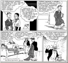 Adult blondie comic strip