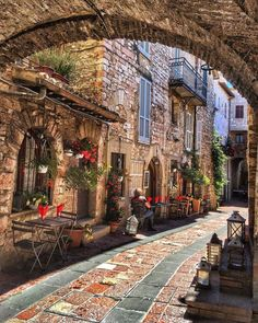 In pretty Assisi, Italy.