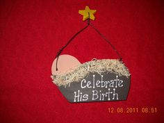 Nativity Ornament. $5.95, via Etsy.