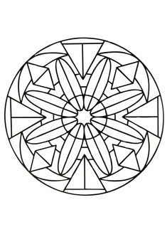These Mandalas are for those who like symetry, regularity, normality ...  Indeed, all these drawings are made of geometric patterns : squares, triangle, circles ... But the difficulty level varies, we have easy Mandalas for children, and very very difficult ones, for adults !  Prepare your pencils, pens & markers ! Which colors will you choose ?