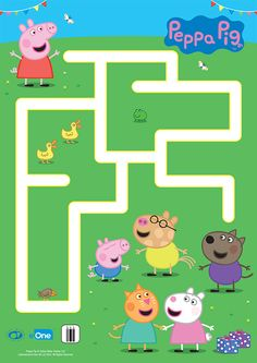 Your little one can help Peppa reach her friends at the end of this grassy maze! Your little one can help Peppa reach her friends at the end of this grassy maze!