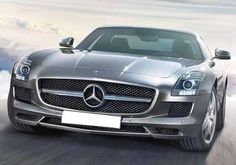 Mercedes-Benz SLS AMG  Classic look but high performance car. I like the color also