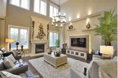 Image result for vaulted ceiling fireplace ideas
